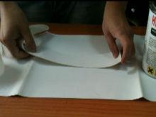 naklejanie łaty na baner